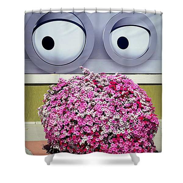Look At Those Flowers Shower Curtain
