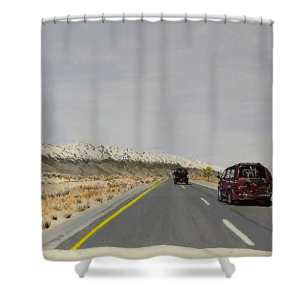 Shower Curtain featuring the painting Look For America by Kevin Daly