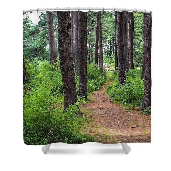Shower Curtain featuring the photograph Look Park Nature Path by Sven Kielhorn