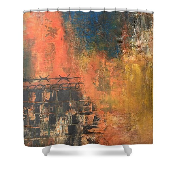 Look Past Confinement  Shower Curtain