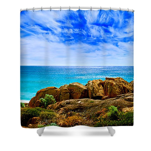 Look To The Horizon Shower Curtain