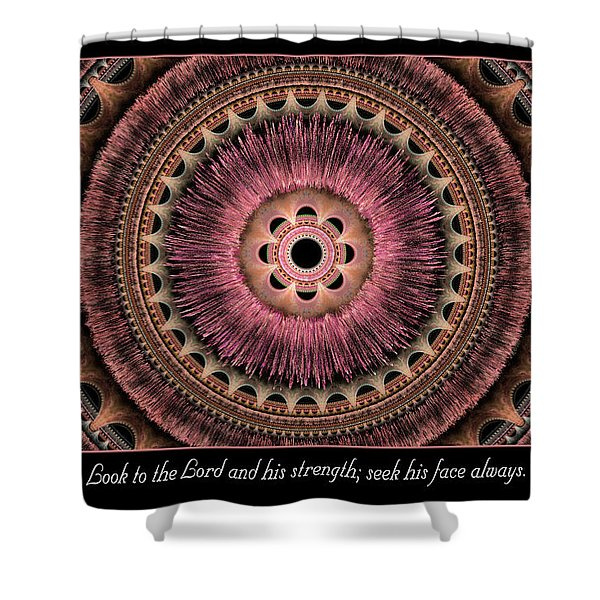 Look To The Lord Shower Curtain