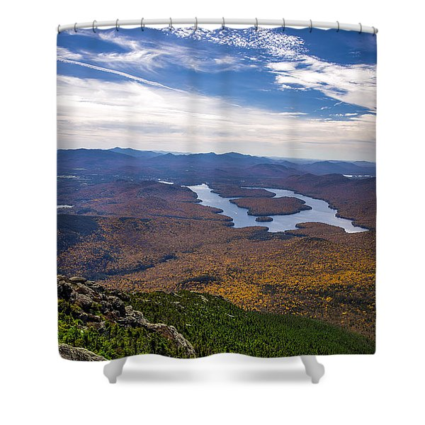 Lookin Down On Lake Placid Shower Curtain