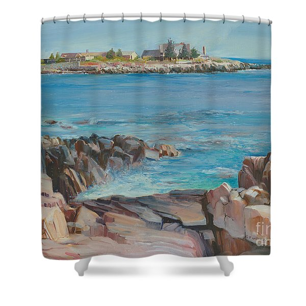 Looking At Walkers Point Estate  Shower Curtain