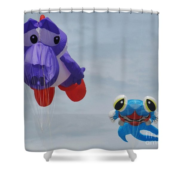 Looking At You Kite Shower Curtain