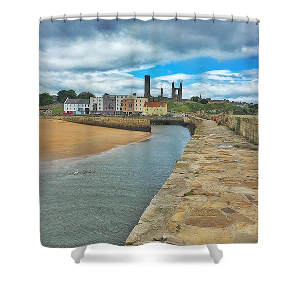 Looking Back To The St Andrews Skyline Shower Curtain