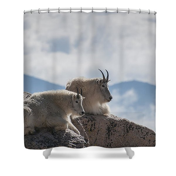 Looking Down On The World Shower Curtain