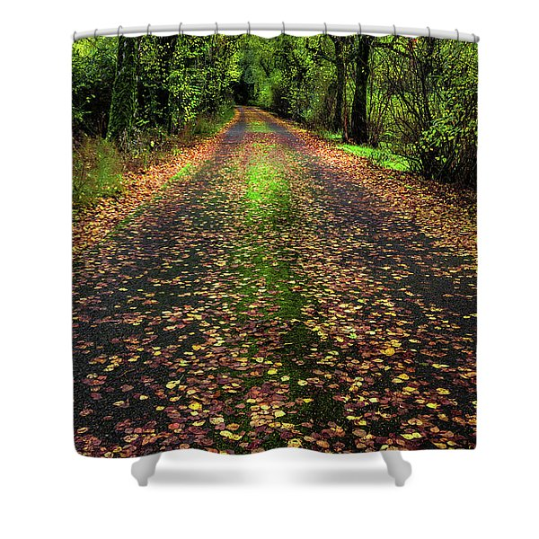 Looking Down The Lane Shower Curtain