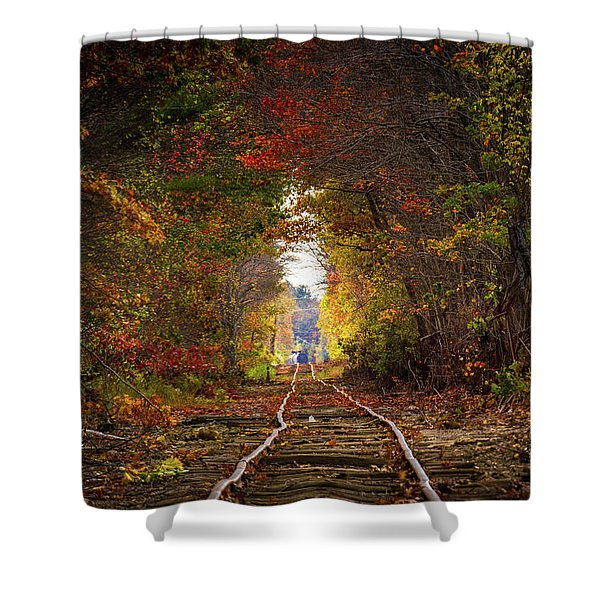 Looking Down The Tracks Shower Curtain