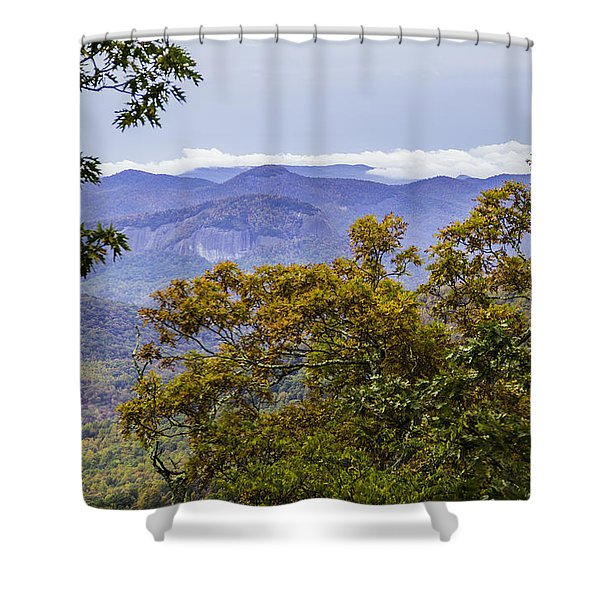 Looking Glass Rock Distant View Shower Curtain
