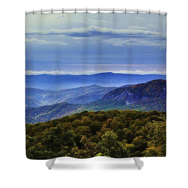 Looking Glass Rock Landscape Shower Curtain