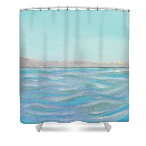 Looking South Tryptic Part 1 Shower Curtain