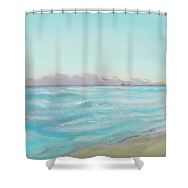 Looking South Tryptic Part 2 Shower Curtain