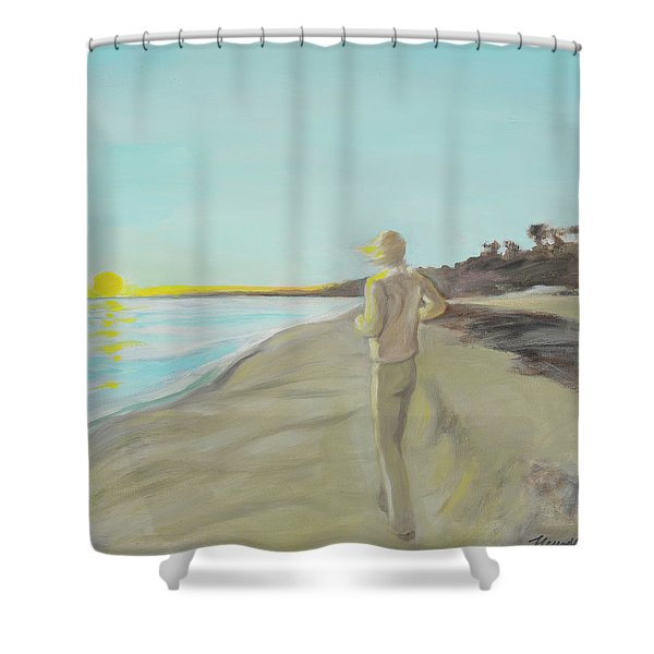 Looking South Tryptic Part 3 Shower Curtain
