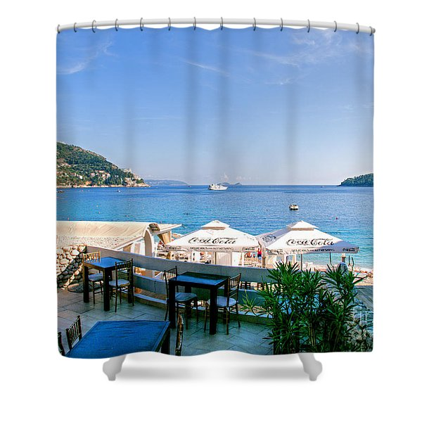 Looking To Dine Out Shower Curtain