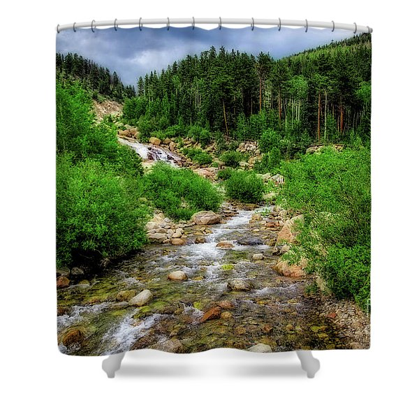 Looking Upstream Shower Curtain