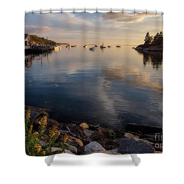 Lookout Point, Harpswell, Maine  -99044-990477 Shower Curtain