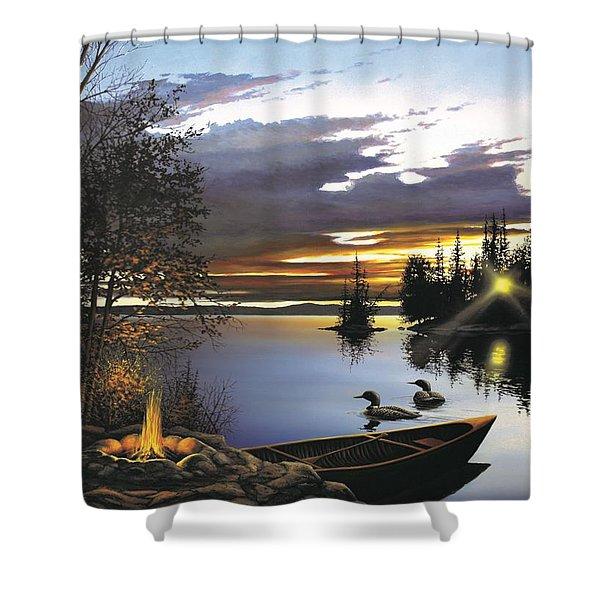 Loon Lake Shower Curtain