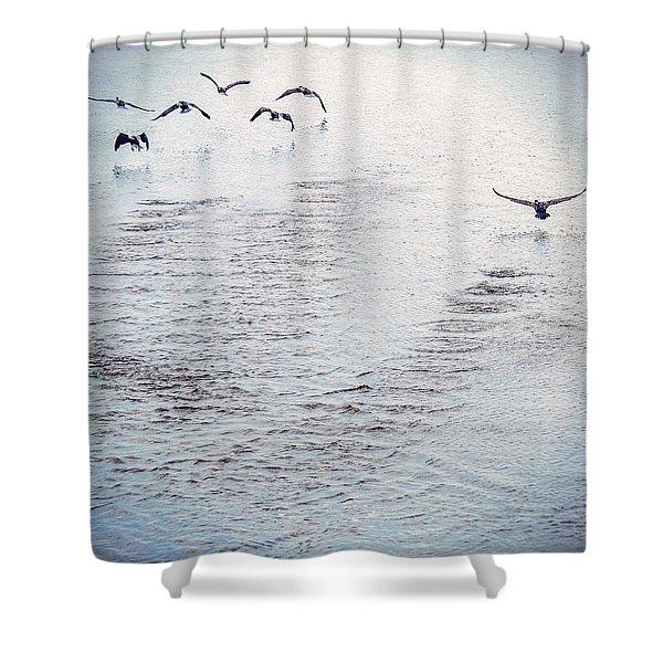 Looner Liftoff Shower Curtain