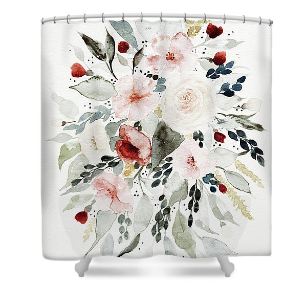 Loose Florals Shower Curtain