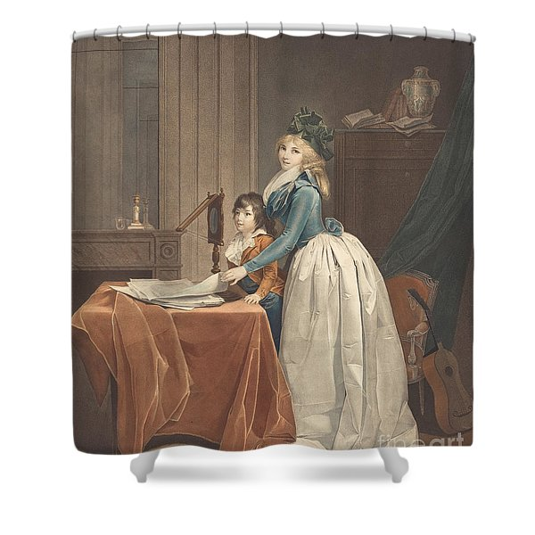 L'optique (the Optical Viewer) Shower Curtain