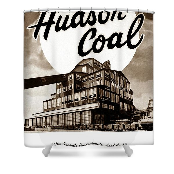 Loree Colliery Larksville Pa. Hudson Coal Co  Shower Curtain