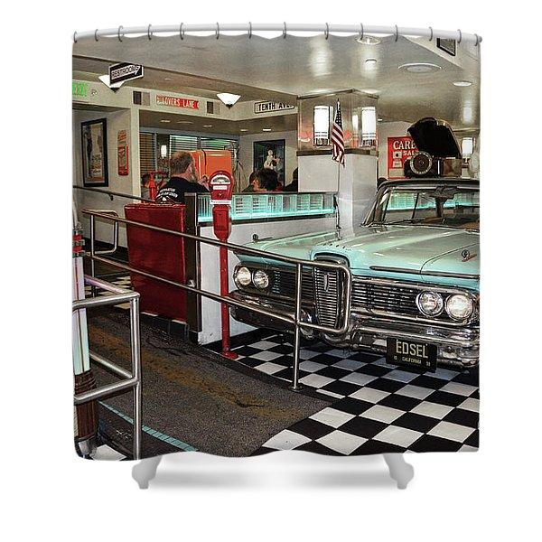 Loris Diner In San Francisco Shower Curtain
