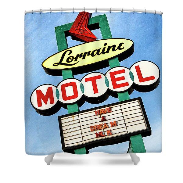 Lorraine Motel Sign Shower Curtain