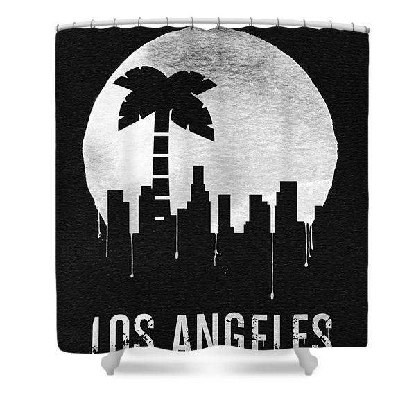 Los Angeles Landmark Black Shower Curtain