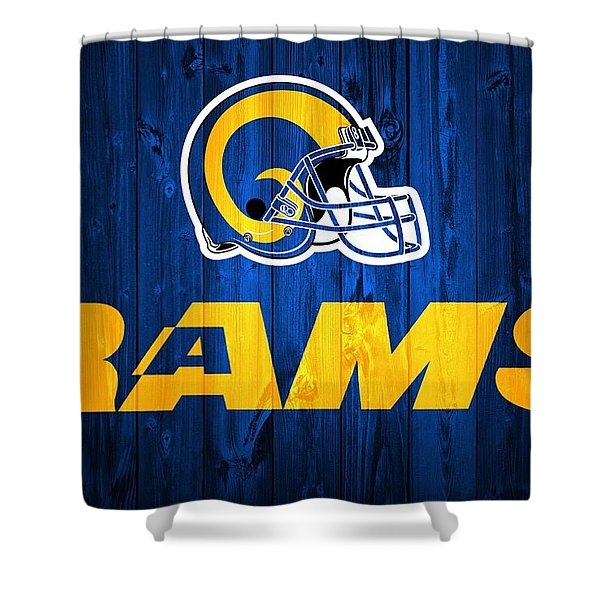 Los Angeles Rams Barn Door Shower Curtain