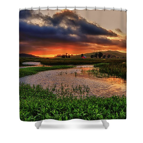 Los Osos Valley Shower Curtain