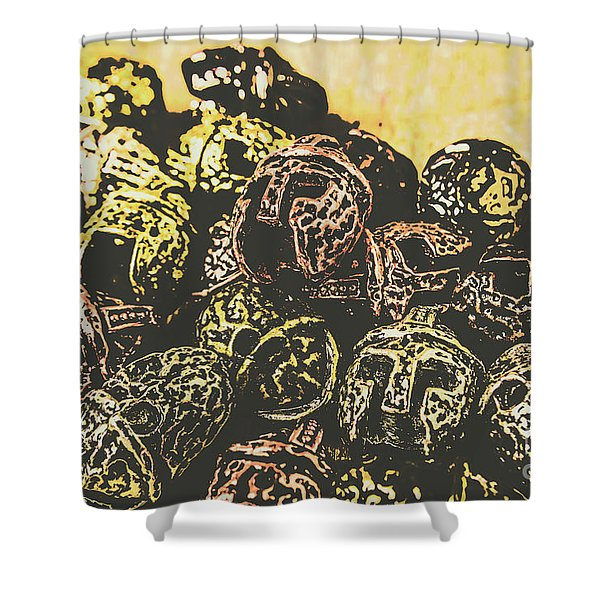 Losses From The Colossus  Shower Curtain