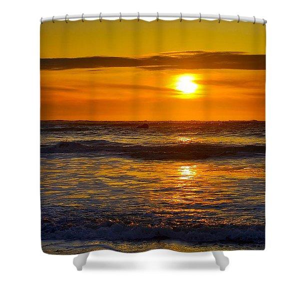 Lost Coast Sunset Shower Curtain