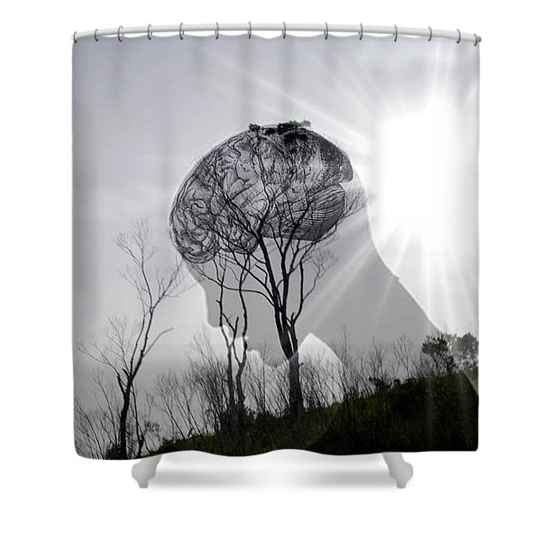 Lost Connection With Nature Shower Curtain