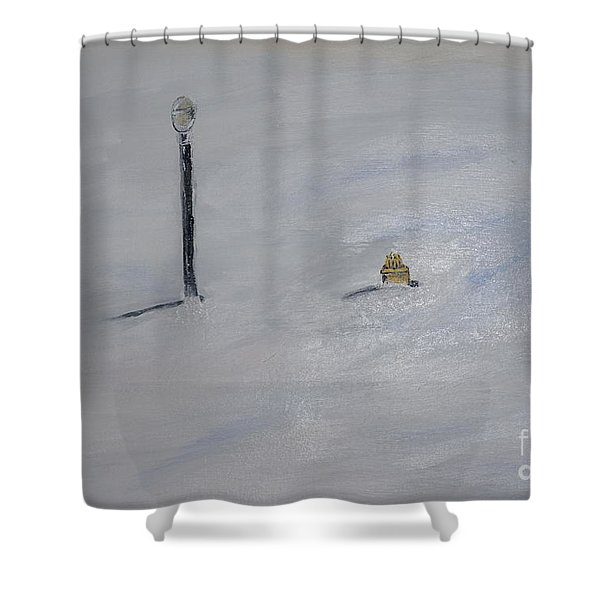 Lost Fire Hydrant Shower Curtain