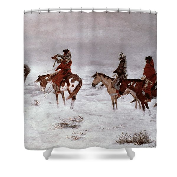 'lost In A Snow Storm - We Are Friends' Shower Curtain