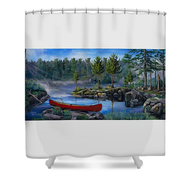 Lost In The Boundary Waters Shower Curtain