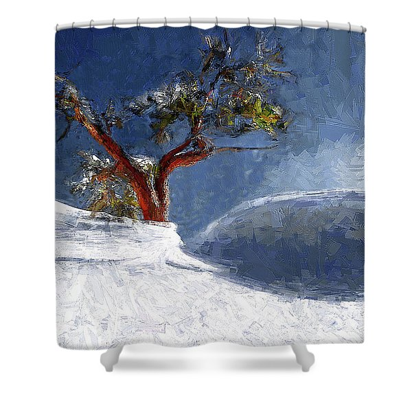 Lost In The Snow Shower Curtain