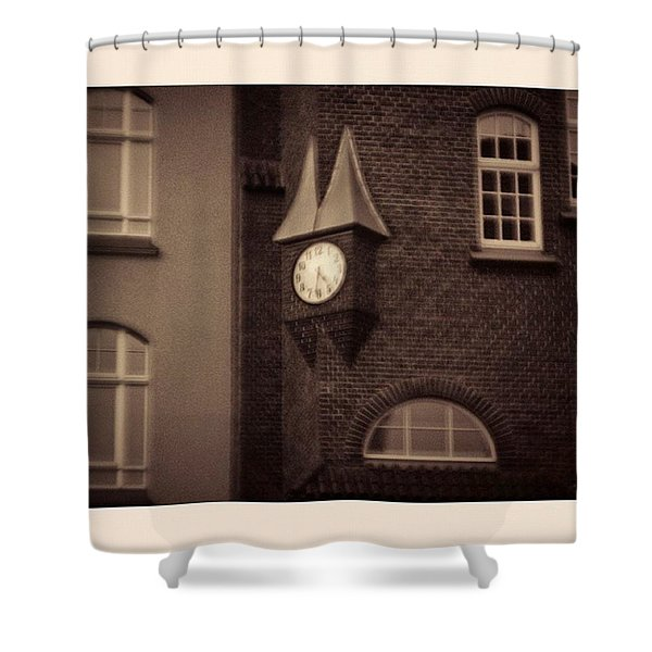 Lost In Time. Again.  #monochrome Shower Curtain