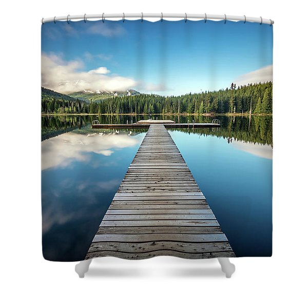 Lost Lake Dream Whistler Shower Curtain