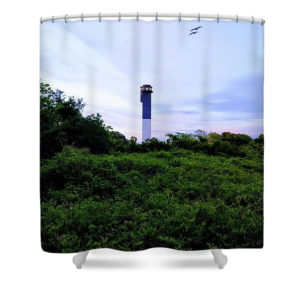 Lost Lighthouse Shower Curtain