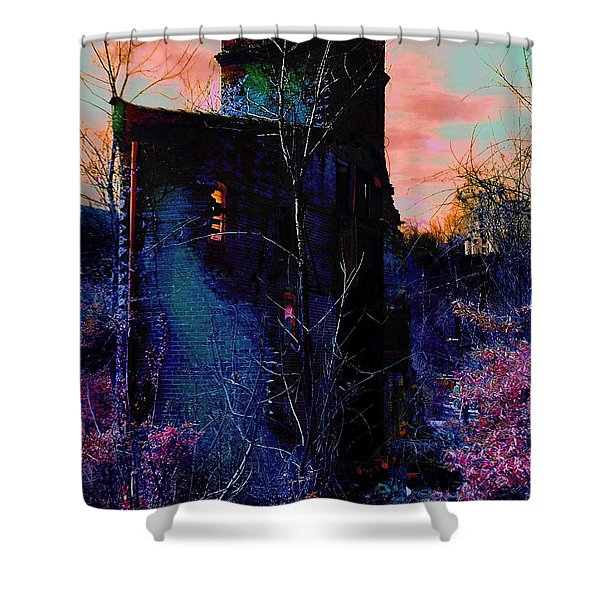 Lost Tower Of The Blue King Shower Curtain