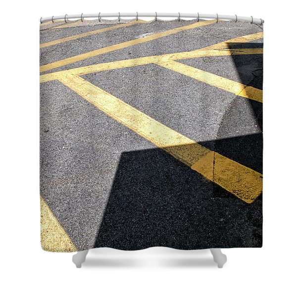 Lot Lines Shower Curtain
