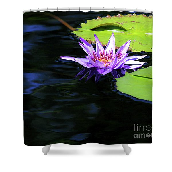 Lotus And Dark Water Refection Shower Curtain