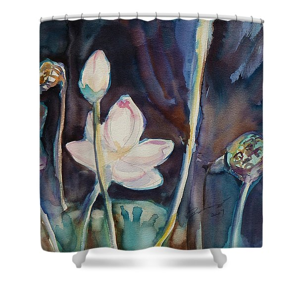 Lotus Study II Shower Curtain
