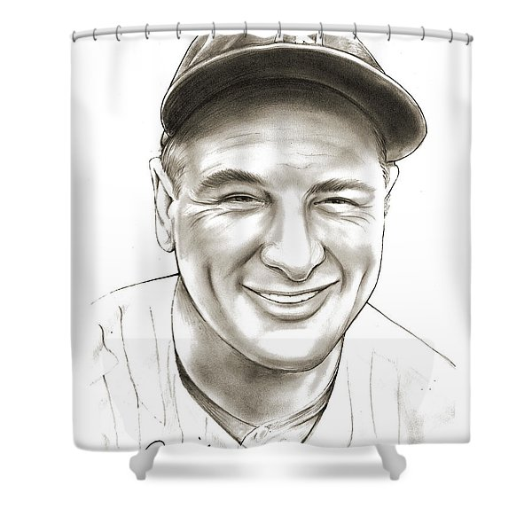 Lou Gehrig Shower Curtain