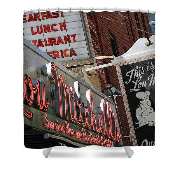 Lou Mitchells Restaurant And Bakery Chicago Shower Curtain