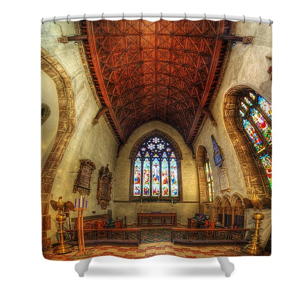 Loughborough Church - Altar Vertorama Shower Curtain