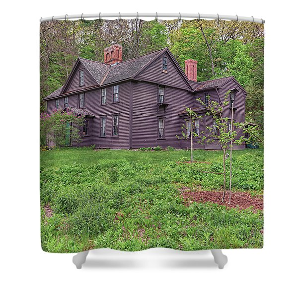 Louisa May Alcotts Orchard House Concord Massachusetts Shower Curtain