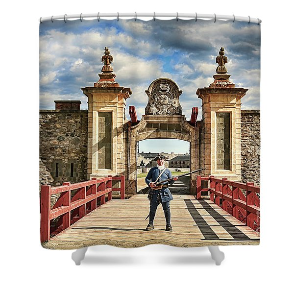 Louisbourg Fortress, Nova Scotia Shower Curtain